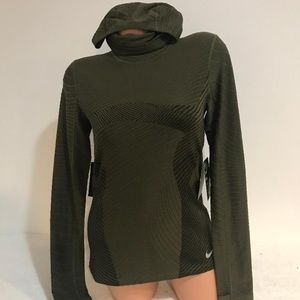 Nike Element Balaclava Long Sleeve Running Top